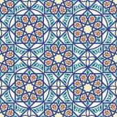 Vintage arabic and islamic background, ethnic style ornaments, geometric ornamental seamless pattern — Stockvektor