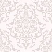 Damask beautiful background with rich, old style, luxury ornamentation, pink fashioned seamless pattern — Stock Vector