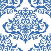 Damask beautiful background with rich, old style, luxury ornamentation, fashioned seamless pattern — Vector de stock