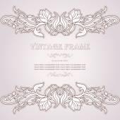 Vintage background, elegance antique, victorian, floral ornament, baroque frame — Stock Vector