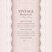 Vintage wedding background, elegance antique, victorian,  floral ornamental greeting card — Stock Vector