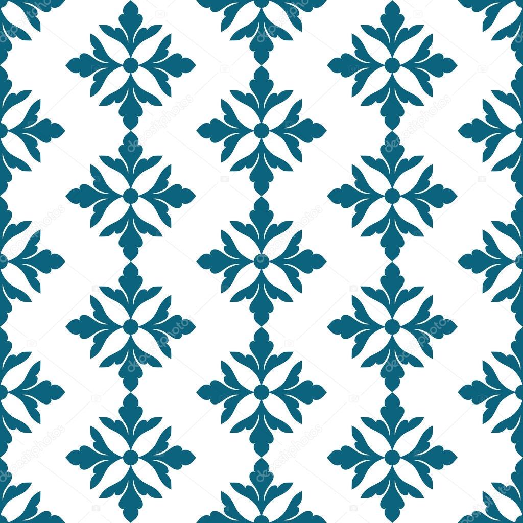 vintage cute blue background floral islamic ornament