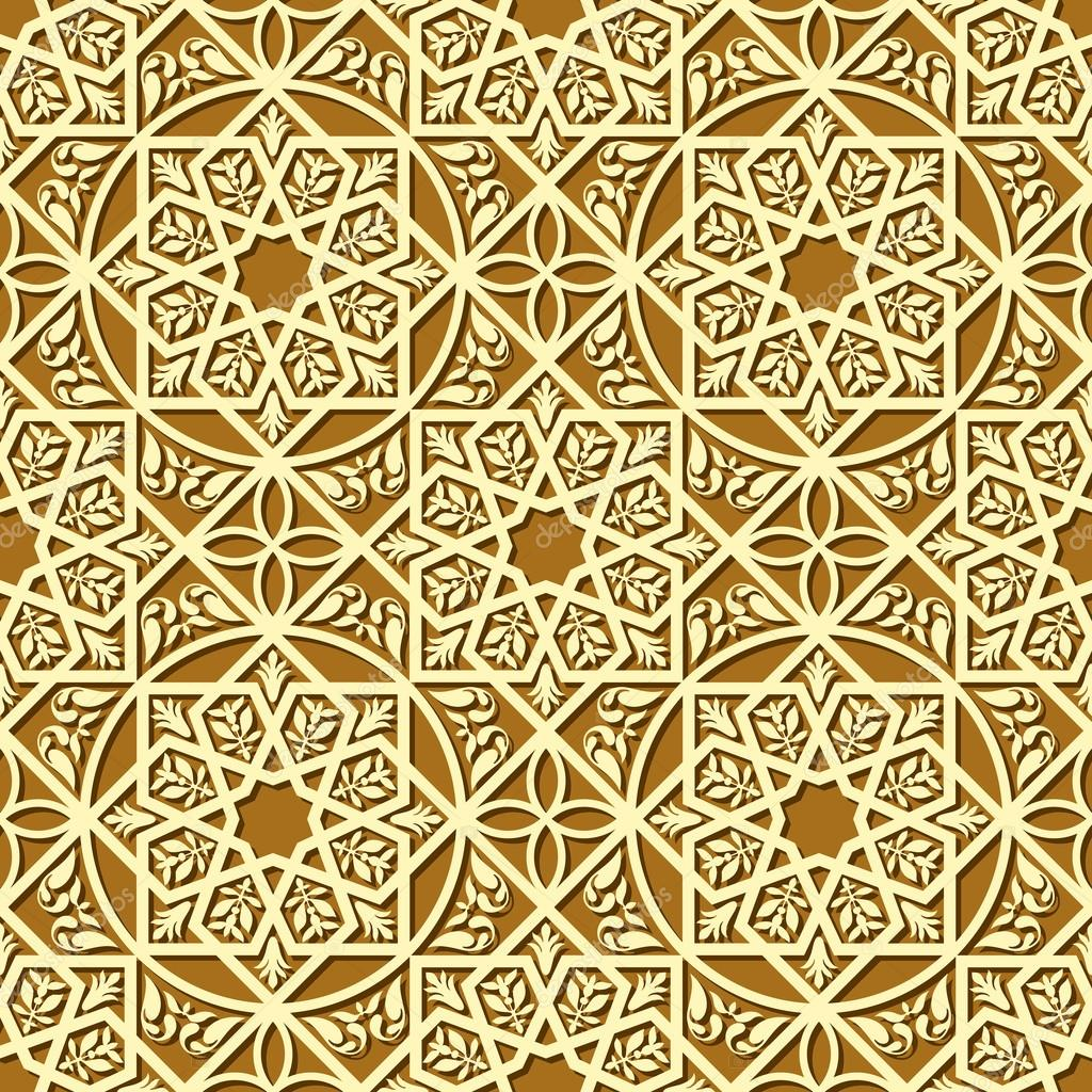 Vintage arabic and islamic background, ethnic style