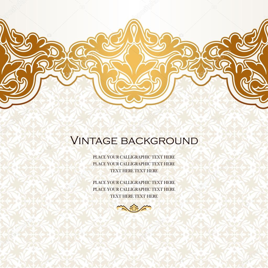 Vintage Vector Card In Islamic Style Seamless Lace