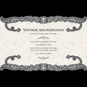 Vintage background, luxury, antique, victorian, floral ornament, baroque frame, beautiful invitation — Stock Vector