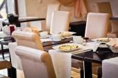 Breakfast in hotel — Stock Photo