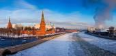 Moskiewski kreml w zimie — Zdjęcie stockowe