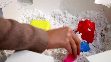 Kinetic sand — Stock Video