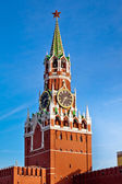 The Spasskaya Tower on Red Square in Moscow, Russia — Stock Photo