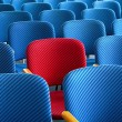 Red seat standing out — Stockfoto #53023063