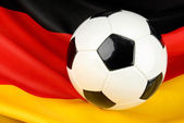Germany in anticipation on football — Stok fotoğraf