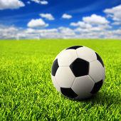 Futbol üzerinde boş alan — Stok fotoğraf