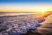 Tranquil sunset on the beach — Stock Photo
