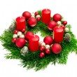 Advent wreath on pure white — Stock Photo #55923629