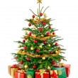 Gorgeous Christmas tree with gift boxes — Stock Photo #56988343