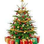 Gorgeous Christmas tree with gift boxes — Stock Photo #56988343