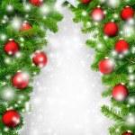 kreative Weihnachtsbaum-Grenze — Stockfoto #58802663