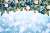 Christmas background with fir branches — Stock Photo