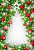 Creative Christmas tree border — Stock Photo