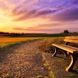 Colorful sunset in rural idyll — Stock Photo #72892955