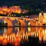 Heidelberg, Germany, night panorama — Stock Photo #81271352