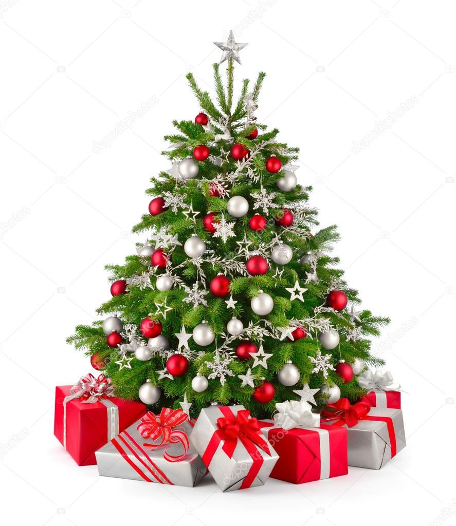 depositphotos_88372004-stock-photo-christmas-tree-and-gifts-in Steel Wood Bench