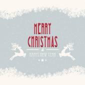 Merry christmas snow background — Stock vektor