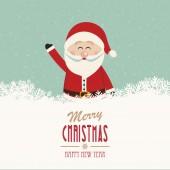 Annata di santa onda merry christmas — Vettoriale Stock
