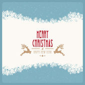 Merry christmas snowy winter background — Stock Vector