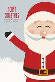 Santa claus Golf zijde vintage winter achtergrond — Stockvector