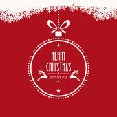 Christmas ball merry christmas snowflakes background — Vector de stock