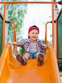 Little baby playing in the park  — Stock Photo