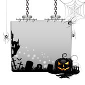 Banner for Halloween with pumpkin — Stock Vector