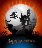 Halloween karta — Stock vektor
