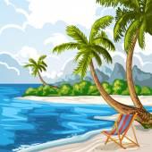 夏のビーチ — ストックベクタ