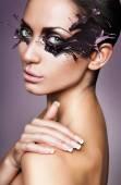 Woman with splash mask — Stock Photo