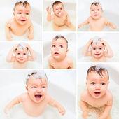 Child   in bathroom — Stock Photo