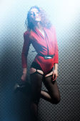 红衣女人 — 图库照片