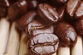 Kahve çekirdekleri yakın çekim — Stok fotoğraf