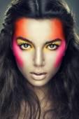 Sexy girl with eye shadows — Stock Photo