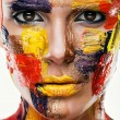Woman in colourful paint — Stock Photo #58197851