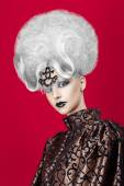 Woman with white hair — Stock Photo