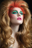 Woman with luxuriant hair — Stock Photo