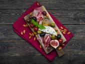 Wine appetizers set — Stock Photo