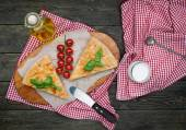 Homemade pastry pie with cheese — Stock Photo
