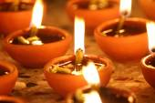 Beautiful diwali diya, Diwali Oil Lamp — Stock Photo
