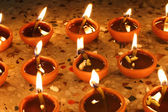 Beautiful diwali oil lamps — Stock Photo
