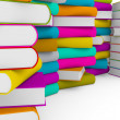 Multiple stack of colorful books — Stock Photo #58160653