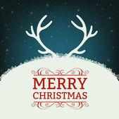 Merry christmas illustration — Stock Vector