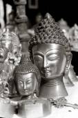 Lord buddha metal heykel — Stok fotoğraf